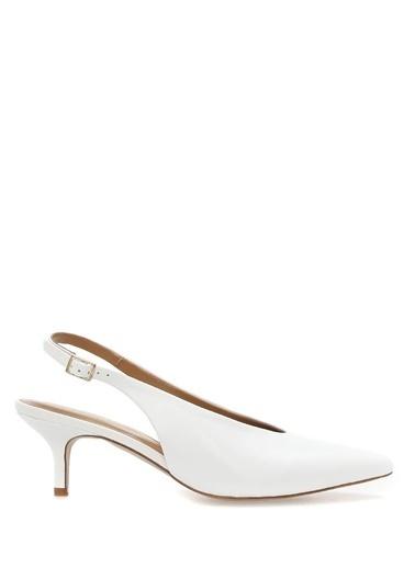 Carvela İnce Topuklu %100 Deri Ayakkabı Beyaz